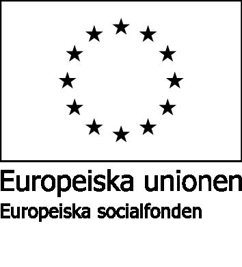 Europeiska socialfonden logo svart