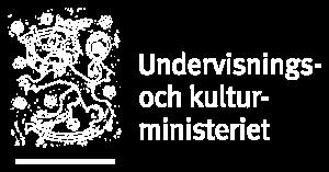 Undervisnings- och kulturministeriet logo vit