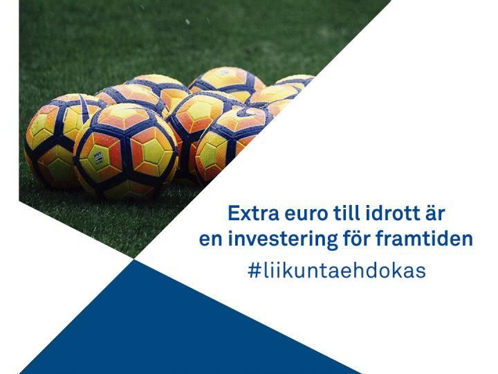 OK bild på extra euro till idrotten